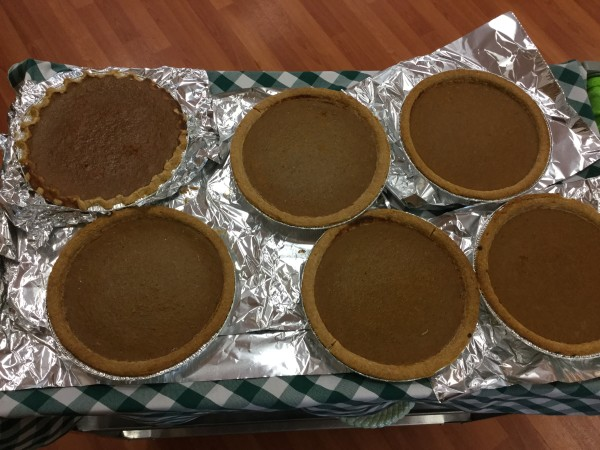 Pumpkin Pies made by residents from their decorated pumpkins